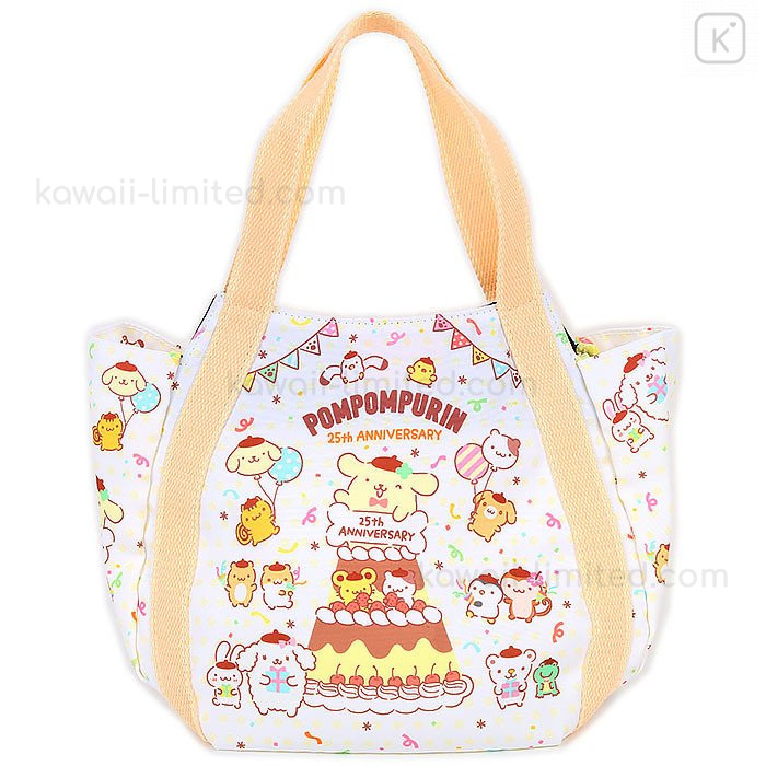 Sanrio Pompom Purin  cotton tote bag NEW made in Japan