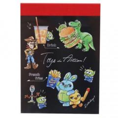 Japan Disney B8 Mini Notepad - Toy Story 4 Junk Food