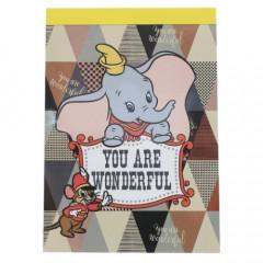Japan Disney B8 Mini Notepad - Dumbo & Timothy