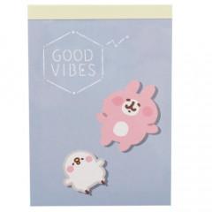 Japan Kanahei Mini Notepad - Piske & Usagi / Good Vibes