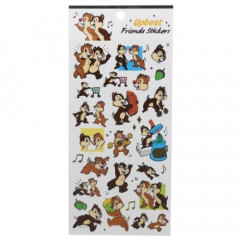 Japan Disney Sheet Sticker - Chip & Dale / Upbeat Friends