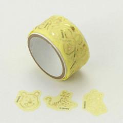 Japan Disney Peripetta Roll Sticker - Winnie the Pooh / Gold