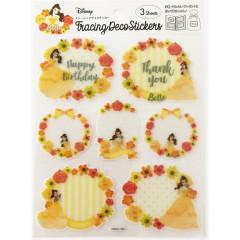 Japan Disney Sheet Sticker - Belle & Flower