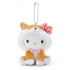 Japan Sanrio Shiba Inu Keychain Plush - Hello Kitty