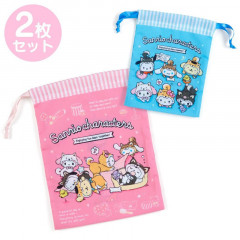 Japan Sanrio Drawstring Bag Set - Shiba Inu Cosplay