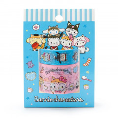 Japan Sanrio Washi Paper Masking Tape Set - Shiba Inu Cosplay