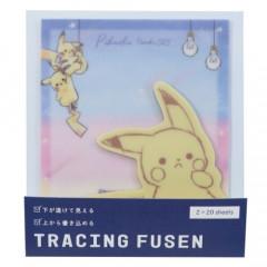 Japan Pokemon Tracing Fusen Sticky Notes - Pikachu