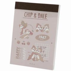Japan Disney B8 Mini Notepad - Chip & Dale