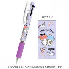 Japan Sanrio Jetstream 3 Color Multi Ball Pen - Little Twin Stars