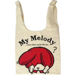 Japan Sanrio Canvas Shopping Bag (L) - My Melody / Red