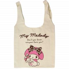 Japan Sanrio Canvas Shopping Bag (L) - My Melody / Pink