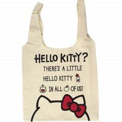 Japan Sanrio Canvas Shopping Bag (L) - Hello Kitty