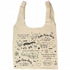 Japan Sanrio Canvas Shopping Bag (L) - Little Twin Stars
