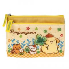 Sanrio 2 Pocket Zip Pouch - Pompompurin