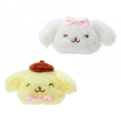 Japan Sanrio Plush Hair Clip Set - Pompompurin / 25th Anniversary