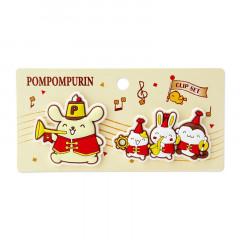 Japan Sanrio Rubber Clip Set - Pompompurin / 25th Anniversary