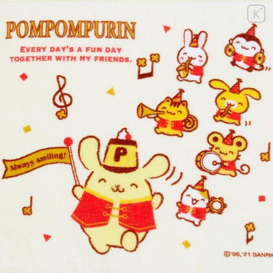 Japan Sanrio Handkerchief Petit Towel - Pompompurin / 25th Anniversary - 2