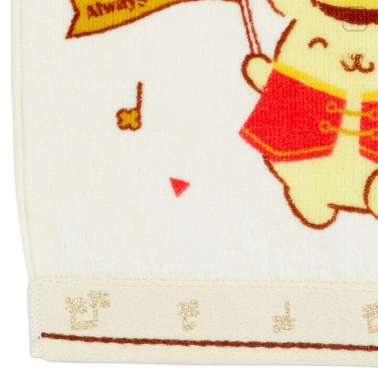 Japan Sanrio Handkerchief Petit Towel - Pompompurin / 25th Anniversary - 3
