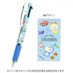 Japan Doraemon Jetstream 3 Color Multi Ball Pen