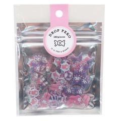 Japan Sanrio Drop Peko Flake Sticker Pack - My Melody & Kuromi