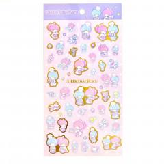 Japan Sanrio Gold Accent Sticker - Little Twin Stars
