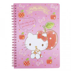 Sanrio A5 Twin Ring Notebook - Hello Kitty / Apple