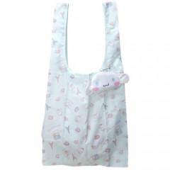 Japan Sanrio Eco Shopping Bag with Small Face Bag- Cinnamoroll