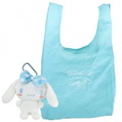 Japan Sanrio Eco Shopping Bag with Small Plush Bag - Cinnamoroll