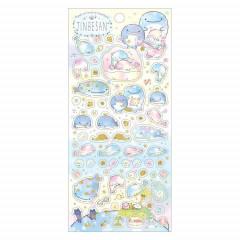 Japan San-X Seal Sticker - Jinbesan / 5th Anniversary A