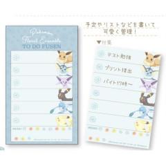 Japan Pokemon Sticky Notes - Pikachu & Eevee Todo List Blue