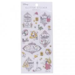 Japan Disney Glitter Sticker - Rapunzel