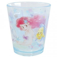 Japan Disney Princess Acrylic Cup - Little Mermaid Ariel & Flounder