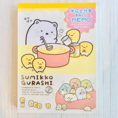 Japan San-X A6 Notepad - Sumikko Gurashi / Corn Soup A