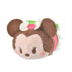 Japan Disney Tsum Tsum Mini Plush (S) - Minnie × Strawberry