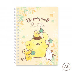 Sanrio A5 Twin Ring Notebook - Pompompurin 2021