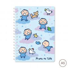 Sanrio A5 Twin Ring Notebook - Minna No Tabo
