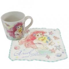 Japan Disney Ceramic Mug - Ariel & Mini Towel Set