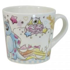 Japan Disney Ceramic Mug - Monster Company Colorful Cake