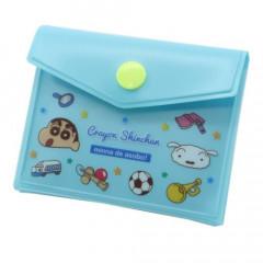 Japan Crayon Shin-chan Sticky Notes with Case - Blue Shinnosuke & Shiro