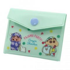 Japan Crayon Shin-chan Sticky Notes with Case - Green Shinnosuke & Buriburi Zaemon
