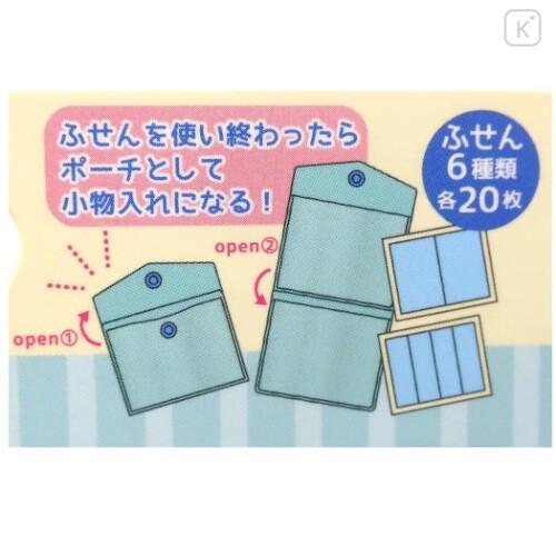 Japan Crayon Shin-chan Sticky Notes with Case - Green Shinnosuke & Buriburi Zaemon - 3