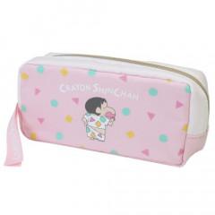 Japan Crayon Shin Chan Zipper Pen Pouch - Pink