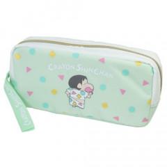 Japan Crayon Shin Chan Zipper Pen Pouch - Green