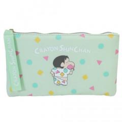 Japan Crayon Shin Chan Flat Pouch - Shinnosuke Pajama Green