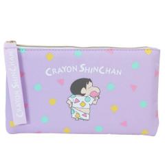 Japan Crayon Shin Chan Flat Pouch - Shinnosuke Pajama Purple