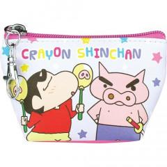 Japan Crayon Shin-chan Triangular Mini Pouch - Shinnosuke & Buriburi Zaemon