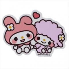 Japan Sanrio Vinyl Sticker - Melody / Heart Series
