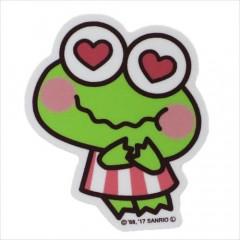 Japan Sanrio Vinyl Sticker - Keroppi / Heart Series