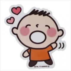 Japan Sanrio Vinyl Sticker - Minna no Tabo / Heart Series