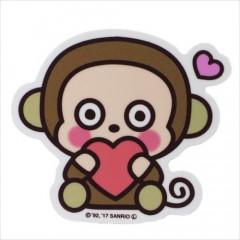 Japan Sanrio Vinyl Sticker - Monkichi / Heart Series